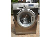 Hotpoint washing machine stainless steel and grey finish (3 years old)
