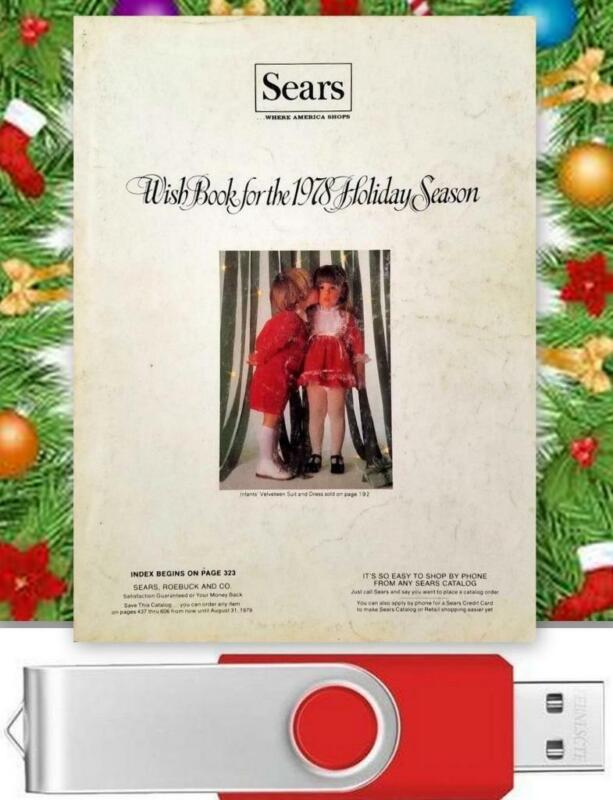 Vintage 1978 Sears Christmas Wishbook / Catalog On USB Drive Toys Clothes & More