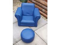 Child's Single Arm chair and foot stall