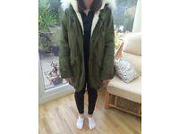 Woman's Coat - Parker Green Size 10
