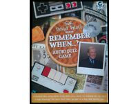 David Frost 'Remember When?' CD Quiz Game (new)