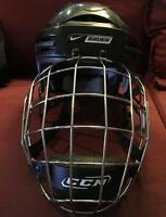 Nike Bauer 9900 hockey helmet casque cage large black