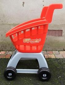Childrens/ kids toy trolley - supermarket