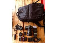 Canon 5D MKII with 24-105mm L-Series Lens plus 2 lenses and other accessories