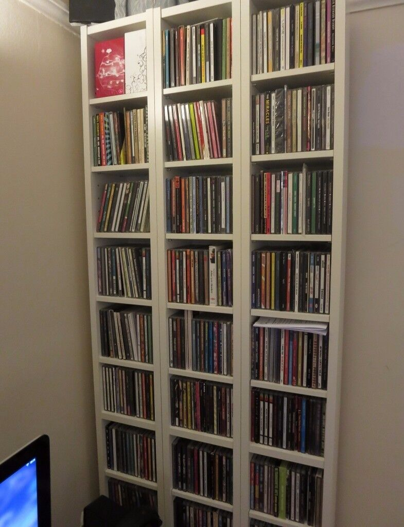 5 x ikea benno gnedby billy cd dvd tower bookcase - Ikea porta cd billy ...