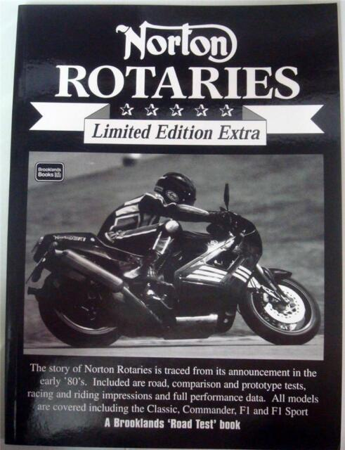 NORTON ROTARIES LIMITED EDITION EXTRA BROOKLANDS ROAD TEST R M CLARKE BOOK