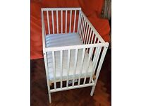 Kiddicare Space Saver Cot Model 1003 with mattress