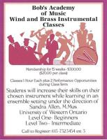 Bob's Music Downtown Pembroke- Wind and Brass Ensemble