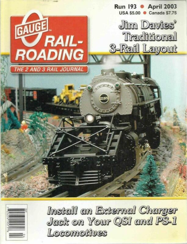 O Gauge Railroading April 2003 Adding Bridges Hot Dog Vendor & Theater Drawings