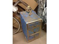 Shabby chic/vintage solid wood draws/cabinets