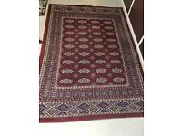 Large Red Bokhara Rug: £50