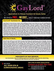 Gaylord® specialized in Estate & Home Content sale Please call us for free consultation
