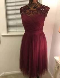 Little mistress burgandy dress size 16