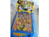 Toy story pinball machine hardly used boxed excellent condition selling as grandson no longer uses i