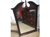 Beautiful ornate antique mirror