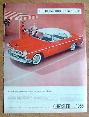 1955 Chrysler Windsor Deluxe Nassau Ad Tango Red