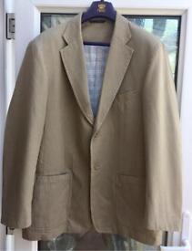 Men's 'Blue Harbour' linen look jacket.
