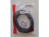 New Lindy CAT6 UTP patch network ethernet cable, 10m length, black