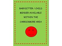babysitter available in carrickmore area