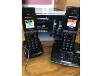 Panasonic cordless home phone set with answerphone