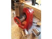 Russel Hobbs electric food grater and slicer in red