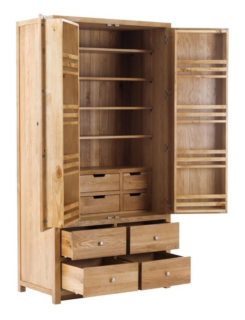 2 Door 10 Drawer Larder Cabinet With Soft Close Drawers (SOK 015)