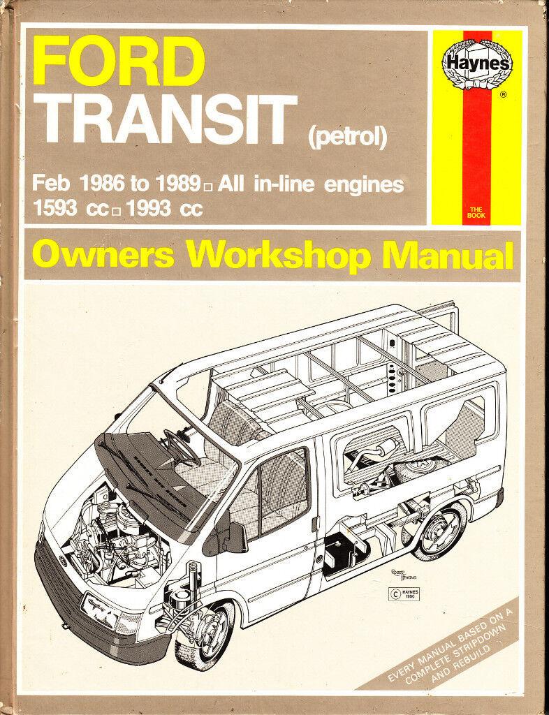 haynes ford transit service repair manual petrol models 1986 1989 rh  gumtree com ford transit mk5 haynes manual ford ...