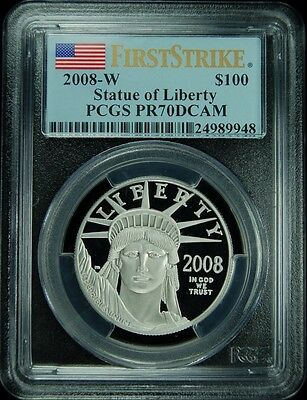 Click now to see the BUY IT NOW Price! 2008-W $100 PLATINUM EAGLE FIRST STRIKE PCGS PR70DCAM