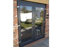 BRAND NEW DARK GREY UPVC FRENCH DOORS 1600MMX2100MM