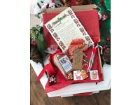 CHRISTMAS EVE BOX PERSONALISED LETTER REINDEER FOOD, CANDY CANES, MAGIC KEY, ENAMEL CHARMS, CHOCS