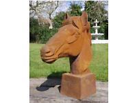 Cast iron horse statue