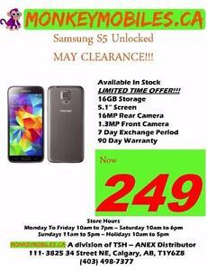 MAY CLEARANCE SALE!!! Samsung Galaxy S5 Unlocked