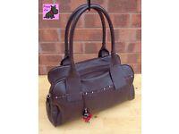 RADLEY - Large Dark Brown Leather 'Porchester' Shoulder Tote *Immaculate