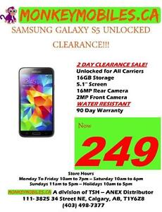 Samsung Galaxy S5 UNLOCKED FROM $249 ***2 DAY CLEARANCE SALE***