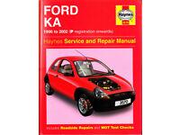 HAYNES FORD KA SERVICE & REPAIR MANUAL 1996 - 2002
