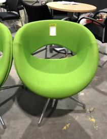 Lime Green Swivel Tub Chairs