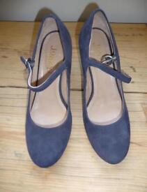Navy Suede Court Shoes Size 7