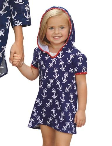 Mud Pie Girls Moms and Minis Hooded Anchor Print Cover-up Ma