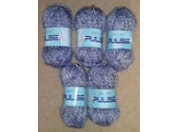 500g James C Brett Pulse Chunky Knitting Yarn, 54% Wool Content - Blue