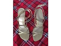 Dolcis gold sparkly sandals size 5