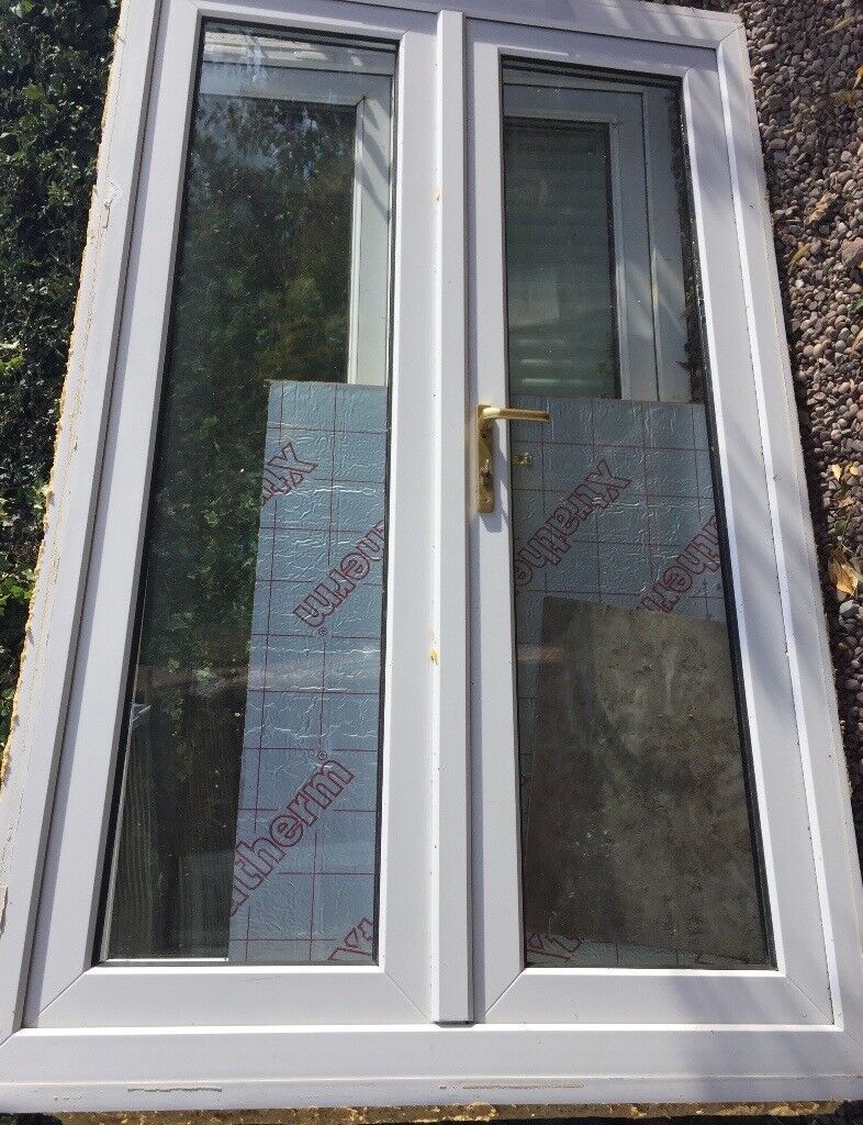 2 X Pair Of Used Upvc Double Glazed Doors For Sale In Audlem