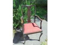 Vintage Carver Dining Chair, To Re-cover