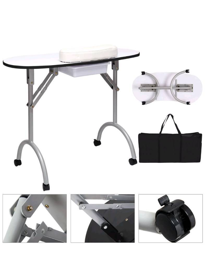 Professional Folding Portable Manicure Nail Art Table Desk | in ...