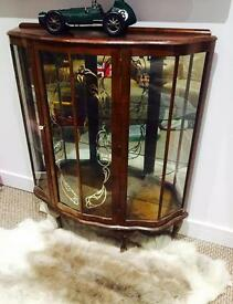 Vintage / antique glass display cabinet
