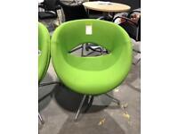 Lime Green Swivel Tub Chairs