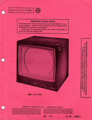 Sams Photofact Service Manual RCA CTC5 1956 CoLoR TV - Color Tv Service Manual