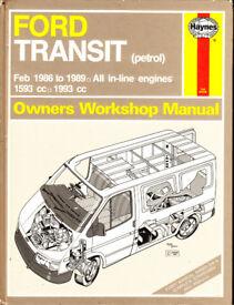HAYNES FORD TRANSIT SERVICE REPAIR MANUAL PETROL MODELS 1986 - 1989