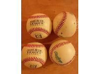Baseballs x4