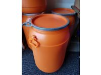 NEW Lock Lid Barrel Containers with Handles, Storage, Storing
