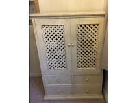 TV Cabinet with 4 drawers - doors recess into the cabinet
